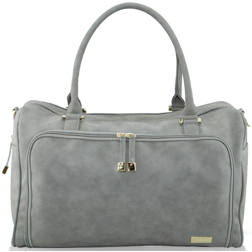 Isoki Double Zip Satchel Nappy Bag Stone